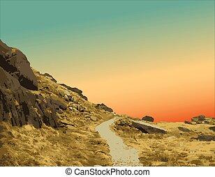 percorso montagna