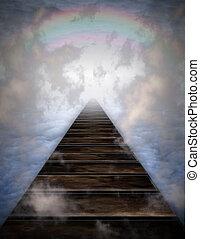 percorso, nubi