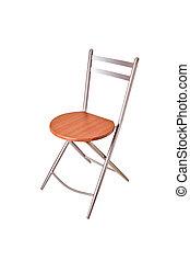 percorso, ritaglio, legno, isolato, sedia, rotondo, fondo, bianco