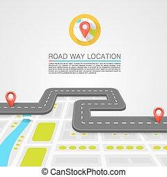 percorso, strada, pavimentato