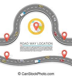 percorso, vettore, road., fondo, pavimentato