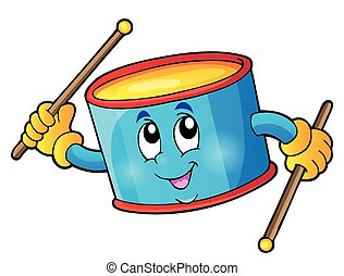Percussion drum theme image 1 - eps10 vector illustration.