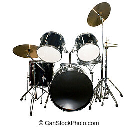 Percussion instrument. Isolated object on a white background...