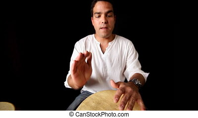 percussion musician performing. CLIP INCLUDES HIGH QUALITY AUDIO