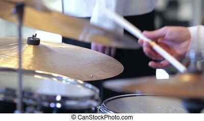percussion, musicien, jouer, entrées