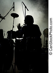 Percussion performer - View of a percussion performer...