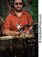 percussionist, ligado, concerto