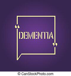 perda, foto, cognitivo, texto, mostrando, doença, sinal, cérebro, memória, conceitual, funcionar, erosão monetária, dementia.