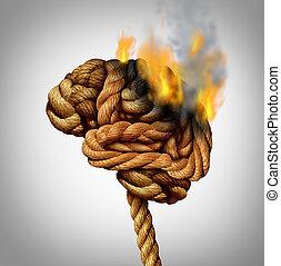 perdendo, cérebro, função