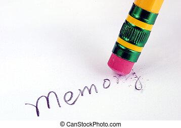 perdendo, demência, semelhante, memória