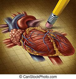 perder, salud corazón, humano