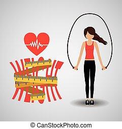 perdere peso, disegno