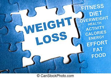 perdita peso, puzzle