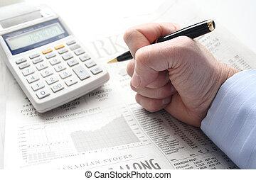 perdita, sopra, finanziario, frustrazione