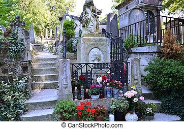 pere, cemitério, paris, lachaise, frança, famosos, frederic,...