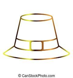 peregrino, sombrero, contorno