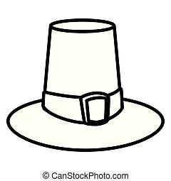 peregrino, sombrero, desgin