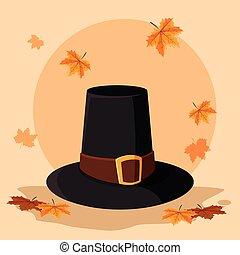 peregrino, sombrero, diseño