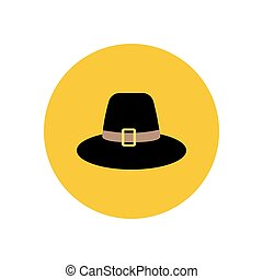 peregrino, sombrero, ilustración