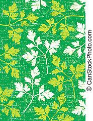 perejil, plano de fondo, en, green.