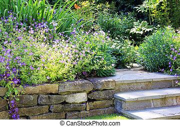perene, primavera, jardim
