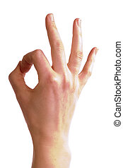 Perfect - An adult female hand show the \\\'perfect\\\'...