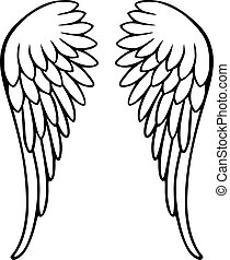 Perfect angel wings