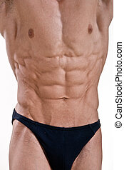 Perfect athletic male body isolated