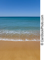 Perfect beach sand copyspace - absolute perfect beach with...