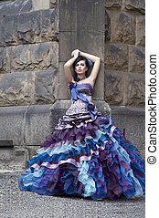 Perfect beauty in a gorgeous dress