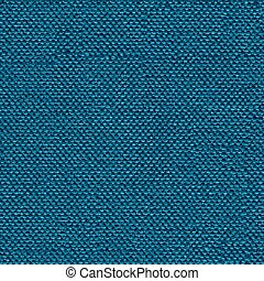 Perfect blue fabric background for design. Seamless square texture.
