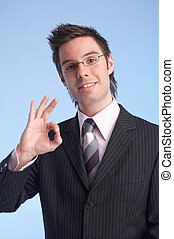 perfect - businessman giving the OK sign