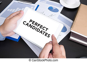 PERFECT CANDIDATES CONCEPT Modern people doing business, ...
