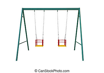 swing - Perfect child's swing isolated on white background