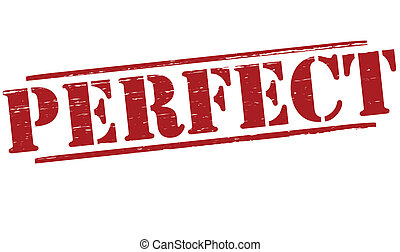 Perfect - Stamp with word perfect inside, vector...