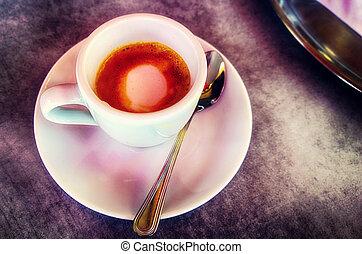 perfect espresso macchiato, pause relax or energetic startup