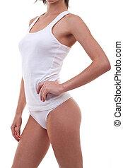 Perfect female body in underwear
