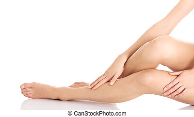 Perfect female legs. - Perfect female legs with clean and...