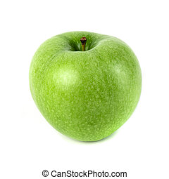 Perfect Fresh Green Apple Isolated on White Background
