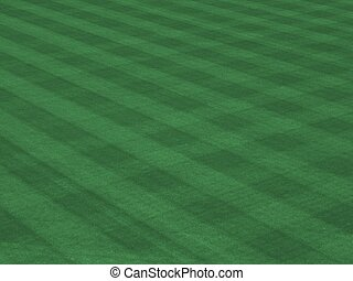 Perfect Grass Showing Mow Patterns at Major League Ballpark