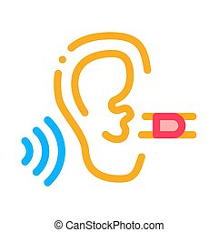 Perfect Hearing Icon Vector Outline Illustration