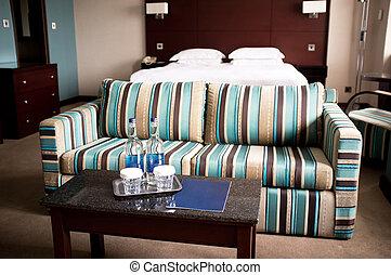 perfect, hotelkamer, ontspanning, vakantie