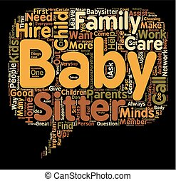 perfect, huren, concept, raadsel, tekst, hoe, wordcloud, babysitter, achtergrond, kind, baby, of, care