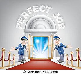 Perfect Job Red Carpet Entrance