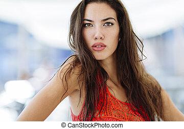 Perfect looking glamorous woman