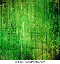 perfect, oud, image., ruimte, tekst, -, textuur, jouw, motieven, zwarte achtergrond, groene, of