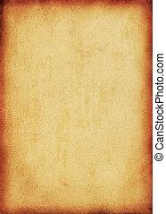 perfect, ouderwetse , -, papier, achtergrond, textured