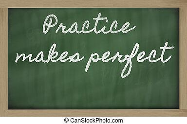 perfect, school, uitdrukking, praktijk, -, geschreven, black...