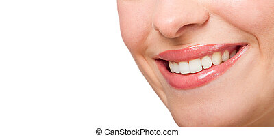 perfect smile - beautiful woman perfect smile