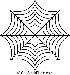 Perfect spider web icon, outline style